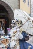 Persona travestita - carnevale veneziano 2013 di Annecy Fotografia Stock Libera da Diritti