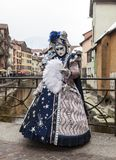 Persona travestita - carnevale veneziano 2013 di Annecy Fotografia Stock