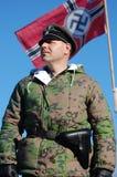 Persona in uniforme militare tedesca WW2. Fotografie Stock