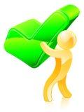 Persona verde de la señal Fotografía de archivo