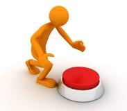 Persona y el botón Imágenes de archivo libres de regalías