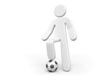 Persona y la bola Imágenes de archivo libres de regalías