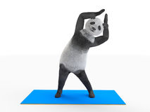 Personage bends side body with raised paws Stock Photography