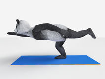 Panda Yoga Royalty Free Stock Photos