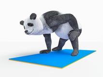 Personage character animal bear panda yoga stretching exercises Stock Image