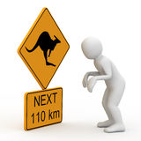Personage and symbol kangaroo. Stock Image