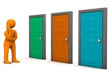 Opção das portas Fotografia de Stock