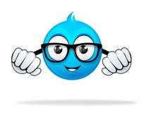 Personagem de banda desenhada azul Foto de Stock