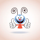 Personagem de banda desenhada bonito da mascote Fotografia de Stock
