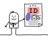 Personagem de banda desenhada - carteira de identidade ilustração do vetor