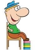 Personagem de banda desenhada curto do homem Fotografia de Stock Royalty Free