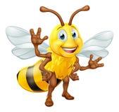 Personagem de banda desenhada da abelha Fotografia de Stock Royalty Free