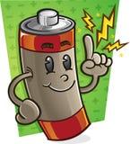 Personagem de banda desenhada da bateria Foto de Stock