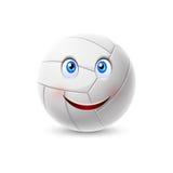 Personagem de banda desenhada da bola do voleibol ilustração stock