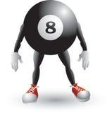 Personagem de banda desenhada da esfera de bilhar Foto de Stock Royalty Free