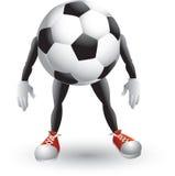 Personagem de banda desenhada da esfera de futebol Fotos de Stock