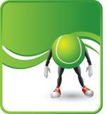 Personagem de banda desenhada da esfera de tênis Imagens de Stock