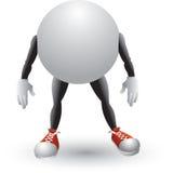 Personagem de banda desenhada da esfera do pong do sibilo Imagem de Stock Royalty Free