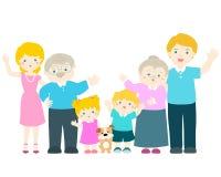 Personagem de banda desenhada da família ilustração stock