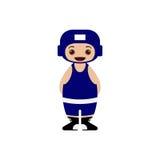 Personagem de banda desenhada da ilustração do pugilista Imagem de Stock