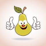 Personagem de banda desenhada da mascote da pera Imagem de Stock Royalty Free