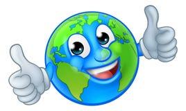 Personagem de banda desenhada da mascote do mundo do globo da terra imagem de stock royalty free