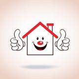 Personagem de banda desenhada da mascote do símbolo da casa Imagens de Stock