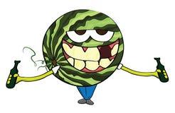 Personagem de banda desenhada da melancia Imagem de Stock Royalty Free
