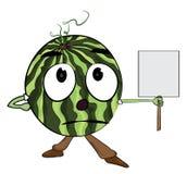 Personagem de banda desenhada da melancia Fotografia de Stock