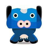 Personagem de banda desenhada da vaca Imagem de Stock