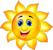 Personagem de banda desenhada de Sun Foto de Stock Royalty Free