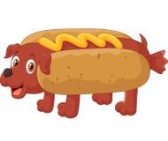Personagem de banda desenhada do cachorro quente Fotos de Stock Royalty Free