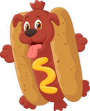 Personagem de banda desenhada do cachorro quente Fotografia de Stock Royalty Free