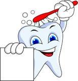 Personagem de banda desenhada do dente Imagem de Stock