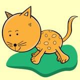 Personagem de banda desenhada do gato Imagem de Stock