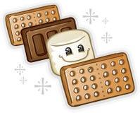 Personagem de banda desenhada do Marshmallow de Smores Imagens de Stock Royalty Free