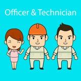 Personagem de banda desenhada dos pessoais na tela azul Fotos de Stock