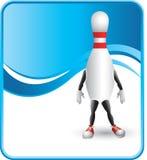 Personagem de banda desenhada elegante do pino de bowling Fotos de Stock
