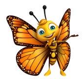 personagem de banda desenhada engraçado da borboleta Foto de Stock Royalty Free