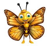 personagem de banda desenhada engraçado da borboleta Fotos de Stock Royalty Free