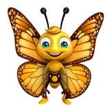 personagem de banda desenhada engraçado da borboleta Foto de Stock