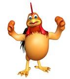 Personagem de banda desenhada engraçado da galinha do divertimento Foto de Stock Royalty Free