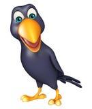 personagem de banda desenhada engraçado do corvo Fotos de Stock Royalty Free