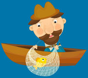 Personagem de banda desenhada - ilustração para as crianças Imagem de Stock Royalty Free