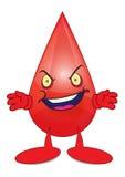 Personagem de banda desenhada irritado do sangue Imagens de Stock Royalty Free