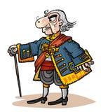Personagem de banda desenhada no traje histórico Foto de Stock