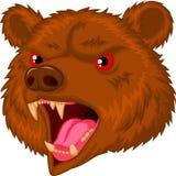 Personagem de banda desenhada principal da mascote do urso Imagem de Stock Royalty Free