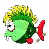 Personagem de banda desenhada - punk dos peixes. Imagens de Stock Royalty Free