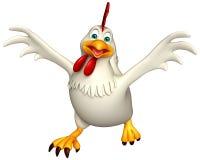 personagem de banda desenhada running da galinha Foto de Stock Royalty Free
