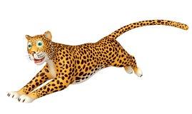 Personagem de banda desenhada running do leopardo Fotografia de Stock Royalty Free